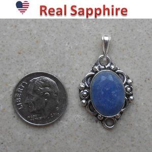 SAPPHIRE sterling pendant 120-94